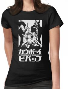 Cowboy Bebop Crew - Black T-Shirt Womens Fitted T-Shirt