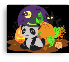 Halloween Panda Canvas Print