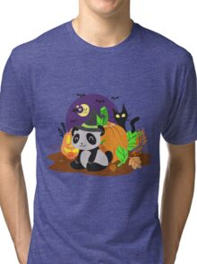 Halloween Panda Tri-blend T-Shirt