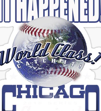 chicago world series Sticker