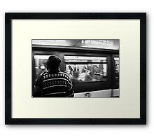 Commuter Time – Paris, France Framed Print