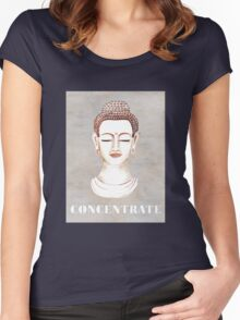 Buddha - Concentrate Women's Fitted Scoop T-Shirt