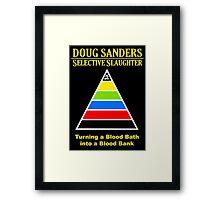 Selective Slaughter Framed Print
