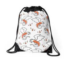 Pattern with cute little basilisk Drawstring Bag