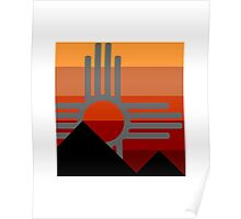 zia mountain sunset Poster