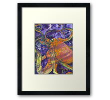 Blue Ring Aquatic Life  Framed Print