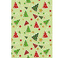 Christmas Tree Cookie Pattern Photographic Print