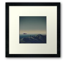 Trapped in low-poly Framed Print