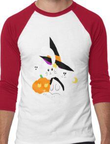 Halloween Witch Bunny Men's Baseball ¾ T-Shirt