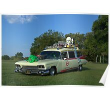 1959 Cadillac Ambulance Ghostbusters Car replica Poster