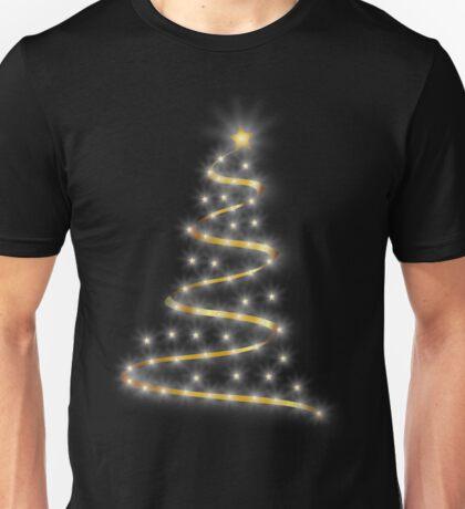 Glowing Gold Christmas Tree Unisex T-Shirt