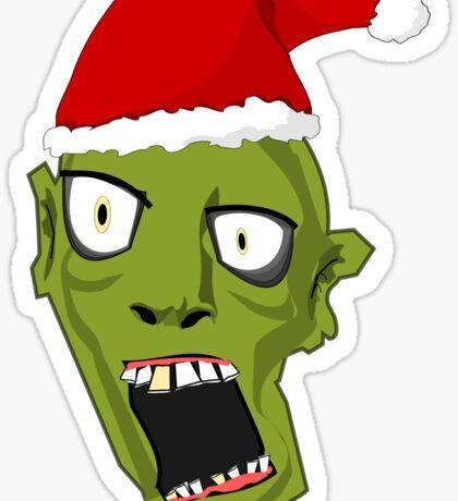 Santa Zombie Sticker
