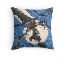 Blue Asphalt 01A Throw Pillow