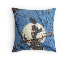 Blue Asphalt 01C Throw Pillow