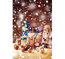 Christmas with Hand Made Toys and Presents Photographic Print