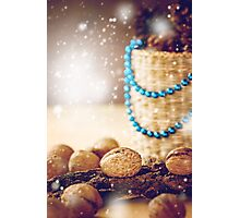 Christmas Decorations with Walnuts Photographic Print