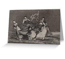 Francisco de Goya   Disparate femenino Feminine Folly Greeting Card