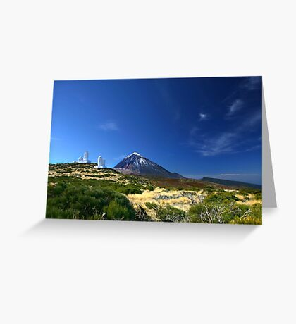 Teide Mountain Blue Greeting Card