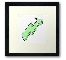 cartoon arrow up trend Framed Print