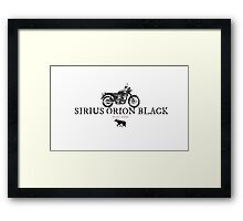 Sirius Orion Black Framed Print
