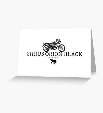 Sirius Orion Black Greeting Card