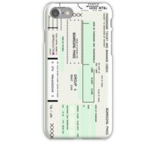 Airline Boarding Pass iPhone Case/Skin