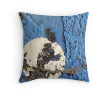 Blue Asphalt 01D Throw Pillow
