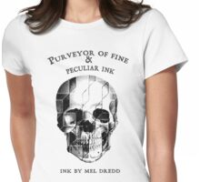 Ink By Mel Dredd Skull Womens Fitted T-Shirt