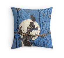 Blue Asphalt 01E Throw Pillow