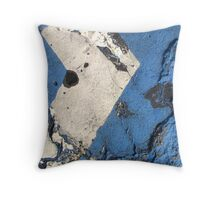 Blue Asphalt 03A Throw Pillow
