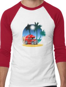 Cartoon Camper Men's Baseball ¾ T-Shirt