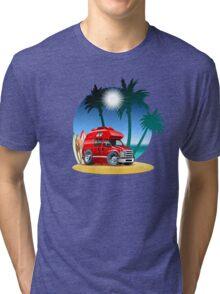 Cartoon Camper Tri-blend T-Shirt