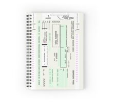 Airline Boarding Pass Spiral Notebook