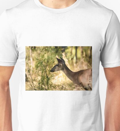 Just Passing Through - Whitetail Deer Unisex T-Shirt