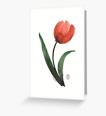 Tulipan Greeting Card