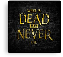 What Is Dead May Never Die: Ironborn Canvas Print