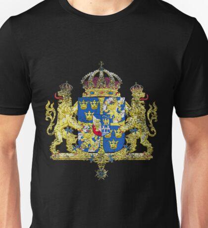 Swedish Coat of Arms Sweden Symbol  Unisex T-Shirt