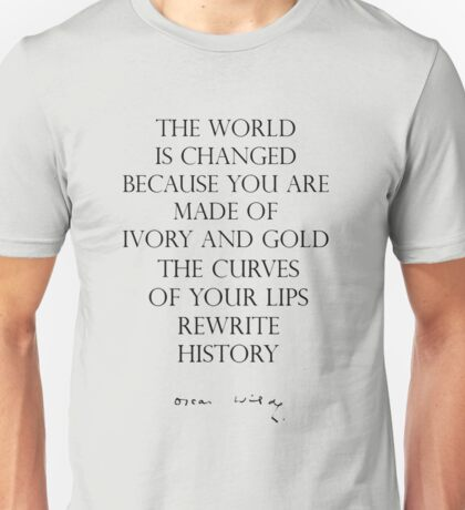 Oscar Wilde - Ivory and Gold Unisex T-Shirt