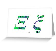 Xi Greek Alphabet Greeting Card