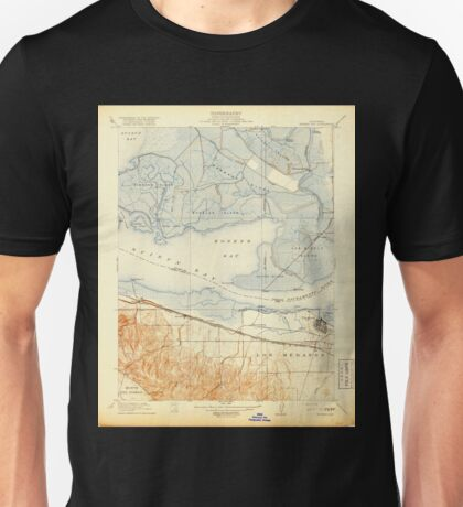 USGS TOPO Map California CA Honker Bay 296168 1918 31680 geo Unisex T-Shirt
