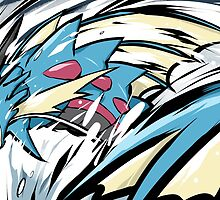 Mega Gyarados | Aqua Tail by ishmam