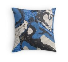 Blue Asphalt 05 Throw Pillow
