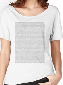 every Twenty One Pilots song/lyric off Vessel Women's Relaxed Fit T-Shirt