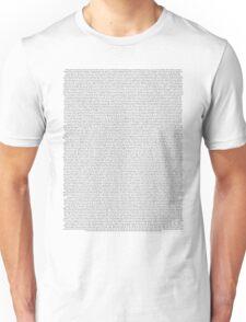 every Twenty One Pilots song/lyric off Vessel Unisex T-Shirt