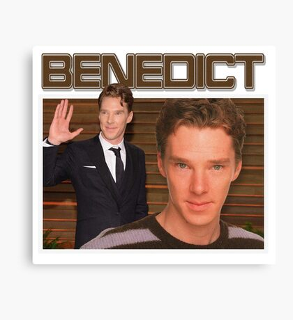 Benedict Cumberbatch 90s Tee Canvas Print