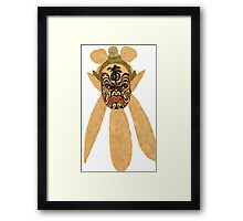 chinese  mask Framed Print