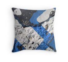 Blue Asphalt 07A Throw Pillow