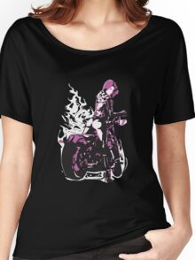 Lady Biker Vintage Rider  Women's Relaxed Fit T-Shirt