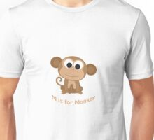 M is for Monkey Unisex T-Shirt