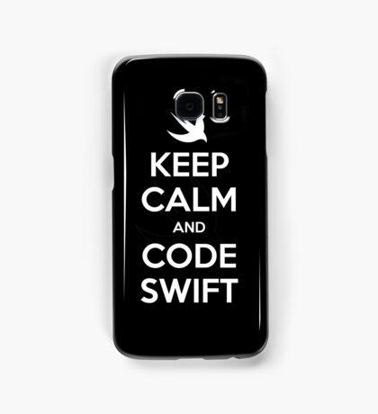 Keep calm and code swift Samsung Galaxy Case/Skin